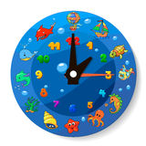 Funny cartoon clock for kids Royalty Free Stock Images