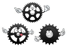 Funny cartoon cogwheels, gears and pinions Stock Image