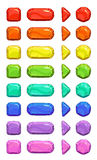 Funny cartoon colorful vector buttons Stock Photography