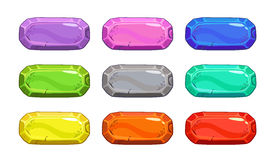 Funny cartoon colorful vector buttons Royalty Free Stock Photos