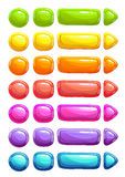 Funny cartoon colorful vector jelly buttons Royalty Free Stock Image