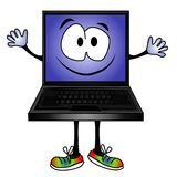Funny Cartoon Computer Smiling