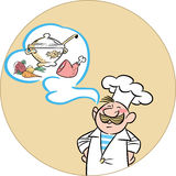 Funny cartoon cook Stock Photography