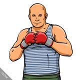 Funny cartoon cool MMA fighter illustration. Funny cartoon cool MMA fighter man illustration Royalty Free Stock Photos