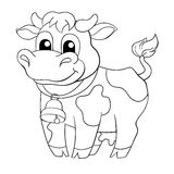 Funny cartoon cow Royalty Free Stock Images