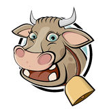 Funny cartoon cow Royalty Free Stock Photography