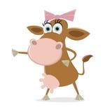 Funny cartoon cow Royalty Free Stock Image