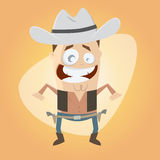Funny cartoon cowboy Stock Photo