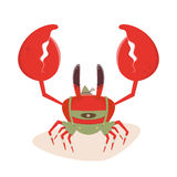 Funny cartoon crab in bavarian lederhosen Royalty Free Stock Image