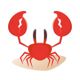 Funny cartoon crab Royalty Free Stock Photography