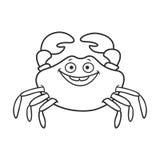 Funny cartoon crab Royalty Free Stock Photo