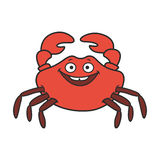 Funny cartoon crab Royalty Free Stock Photography