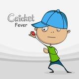 Funny cartoon for Cricket. Royalty Free Stock Image