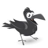 Funny cartoon crow. Funny illustration of a cartoon crow Stock Photos