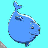 Funny cartoon cute fat Navy seal vector illustration Royalty Free Stock Photography