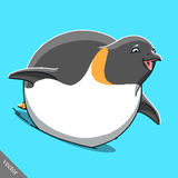 Funny cartoon cute Imperial penguin illustration Stock Photography