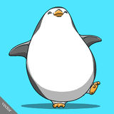 Funny cartoon cute Imperial penguin illustration Royalty Free Stock Images