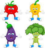 Funny cartoon cute vegetables Royalty Free Stock Photography