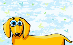 Funny cartoon dachshund dog Stock Photos
