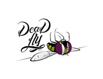 Funny cartoon dead fly Royalty Free Stock Photos