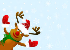 Funny cartoon deer Stock Photos