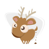 Funny cartoon deer royalty free illustration