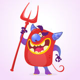 Funny cartoon devil. Halloween vector isolated. Royalty Free Stock Photography