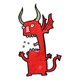 funny cartoon devil Stock Photography