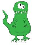 Funny Cartoon Dinosaur Lizard Isolated Royalty Free Stock Photography