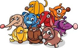 Funny cartoon dog characters Stock Photo