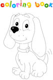 Funny cartoon dog. Coloring book for kids Royalty Free Stock Image