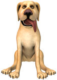 Funny Cartoon Dog Illustration Isolated Stock Image