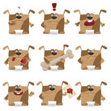 Funny cartoon dog set Stock Image
