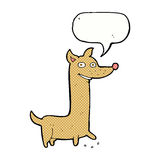 Funny cartoon dog with speech bubble Royalty Free Stock Photography