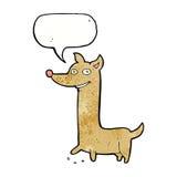Funny cartoon dog with speech bubble Stock Photo