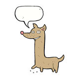 Funny cartoon dog with speech bubble Royalty Free Stock Photos