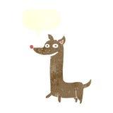 Funny cartoon dog with speech bubble Royalty Free Stock Image