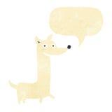 Funny cartoon dog with speech bubble Stock Image