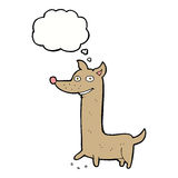 Funny cartoon dog with thought bubble Royalty Free Stock Photo