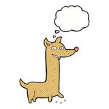 Funny cartoon dog with thought bubble Stock Images