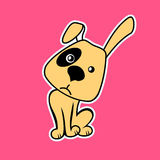 Funny Cartoon Dog. Vector illustration Royalty Free Stock Images