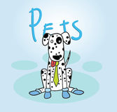 Funny cartoon dogs Stock Images