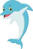 Funny Cartoon dolphin Stock Photos