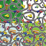 Funny cartoon Doodle seamless pattern set.Child's hand draw cars Stock Image