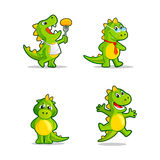 Funny cartoon dragon or dinosaur mascot. Stock Image