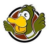 Funny cartoon duck royalty free illustration