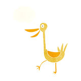 Funny cartoon duck with thought bubble Royalty Free Stock Image