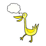 Funny cartoon duck with thought bubble Stock Photo