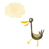 Funny cartoon duck with thought bubble Stock Photos