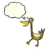 Funny cartoon duck with thought bubble Royalty Free Stock Photo
